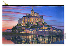 Mont Saint-michel Soir Carry-all Pouch by Richard Harpum