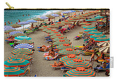 Monterosso Beach Carry-all Pouch by Inge Johnsson