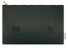 Mooing In The Mist Carry-all Pouch by Chris Fletcher