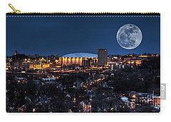 Moon Over The Carrier Dome Carry-all Pouch by Everet Regal