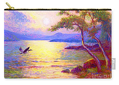 Wild Goose, Moon Song Carry-all Pouch by Jane Small