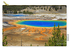 Grand Prismatic Geyser Yellowstone National Park Carry-all Pouch by Edward Fielding