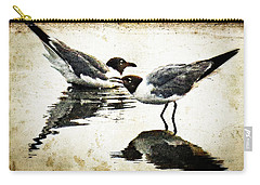 Morning Gulls - Seagull Art By Sharon Cummings Carry-all Pouch by Sharon Cummings