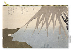 Mount Fuji Under The Snow Carry-all Pouch by Toyota Hokkei
