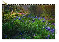 Mount Rainier Sunburst Carry-all Pouch by Inge Johnsson