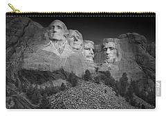 Mount Rushmore South Dakota Dawn  B W Carry-all Pouch by Steve Gadomski