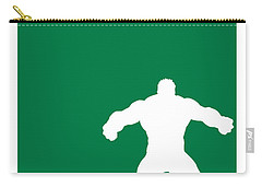 My Superhero 01 Angry Green Minimal Poster Carry-all Pouch by Chungkong Art