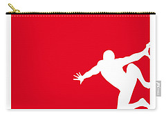 My Superhero 04 Spider Red Minimal Poster Carry-all Pouch by Chungkong Art