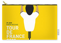 My Tour De France Minimal Poster Carry-all Pouch by Chungkong Art