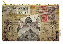 My Trip To Egypt 1914 Carry-all Pouch by Carol Leigh