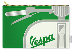 My Vespa - From Italy With Love - Green Carry-all Pouch by Chungkong Art