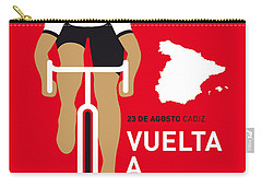 My Vuelta A Espana Minimal Poster 2014 Carry-all Pouch by Chungkong Art