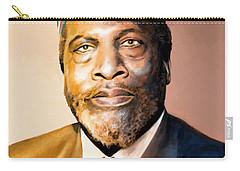 Mzee Jomo Kenyatta Carry-all Pouch by Anthony Mwangi