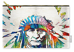 Native American Art - Chief - By Sharon Cummings Carry-all Pouch by Sharon Cummings