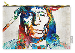 Native American Art By Sharon Cummings Carry-all Pouch by Sharon Cummings