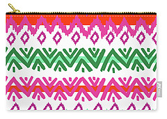 Navajo Mission Round Carry-all Pouch by Nicholas Biscardi