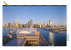Navy Pier, Chicago, Morning, Illinois Carry-all Pouch by Panoramic Images