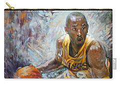 Nba Lakers Kobe Black Mamba Carry-all Pouch by Ylli Haruni