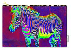 Neon Zebra Carry-all Pouch by Jane Schnetlage