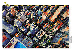 New York City Sky View Carry-all Pouch by Mona Edulesco
