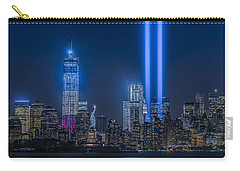 New York City Tribute In Lights Carry-all Pouch by Susan Candelario
