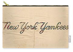 New York Yankees Logo Vintage Carry-all Pouch by Florian Rodarte
