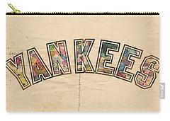 New York Yankees Poster Art Carry-all Pouch by Florian Rodarte