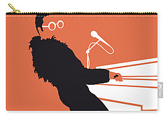 No053 My Elton John Minimal Music Poster Carry-all Pouch by Chungkong Art