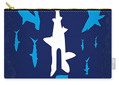 No216 My Sharknado Minimal Movie Poster Carry-all Pouch by Chungkong Art