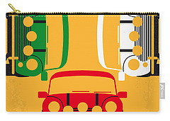 No279 My The Italian Job Minimal Movie Poster Carry-all Pouch by Chungkong Art