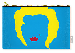 No284 My Week With Marilyn Minimal Movie Poster Carry-all Pouch by Chungkong Art