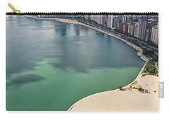 North Avenue Beach Chicago Aerial Carry-all Pouch by Adam Romanowicz