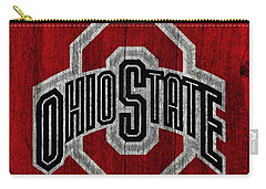 Ohio State University On Worn Wood Carry-all Pouch by Dan Sproul