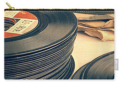 Old 45s Carry-all Pouch by Edward Fielding