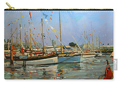 Old Gaffers  Yarmouth  Isle Of Wight Carry-all Pouch by Jennifer Wright