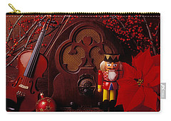 Old Raido And Christmas Nutcracker Carry-all Pouch by Garry Gay