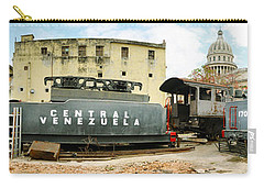 Old Trains Being Restored, Havana, Cuba Carry-all Pouch by Panoramic Images