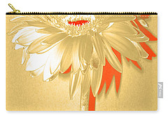 Orange Slice Zinnia Carry-all Pouch by Sherry Allen