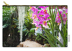 Orchid Garden Carry-all Pouch by Carey Chen