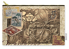 Orchidaceae Postcard Carry-all Pouch by Carol Leigh