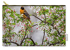 Oriole In Crabapple Tree Square Carry-all Pouch by Bill Wakeley
