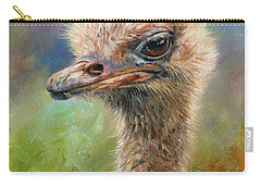 Ostrich Carry-all Pouch by David Stribbling