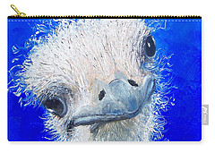 Ostrich Painting 'waldo' By Jan Matson Carry-all Pouch by Jan Matson