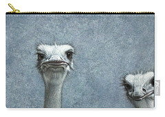 Ostriches Carry-all Pouch by James W Johnson