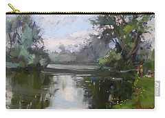 Outdoors At Hyde Park Carry-all Pouch by Ylli Haruni