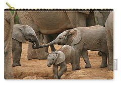 Pachyderm Pals Carry-all Pouch by Bruce J Robinson