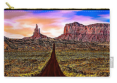 Painting Monument Valley At Sunset Carry-all Pouch by Bob and Nadine Johnston