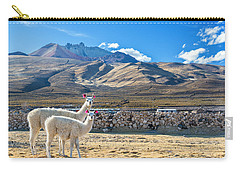 Pair Of Llamas Carry-all Pouch by Jess Kraft