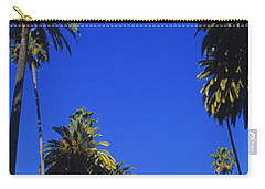 Palm Trees Along A Road, Beverly Hills Carry-all Pouch by Panoramic Images