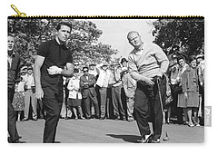 Palmer, Player And Nicklaus Carry-all Pouch by Underwood Archives